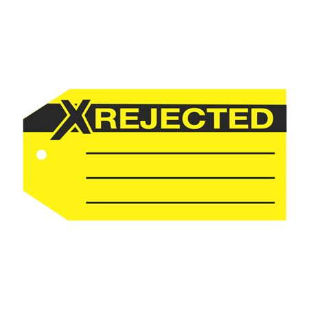 Product Status Tags - Rejected 2.875 x 5.75