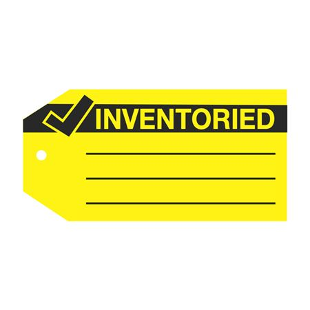 Product Status Tags - Inventoried 2.875 x 5.75