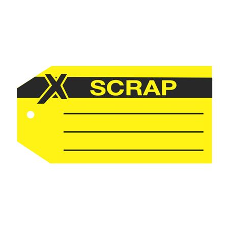 Product Status Tags - Scrap 2.875 x 5.75