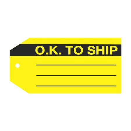 Product Status Tags - O.K. To Ship 2 7/8 x 5 3/4