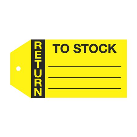 Product Status Tags - Return To Stock 2.875 x 5.75