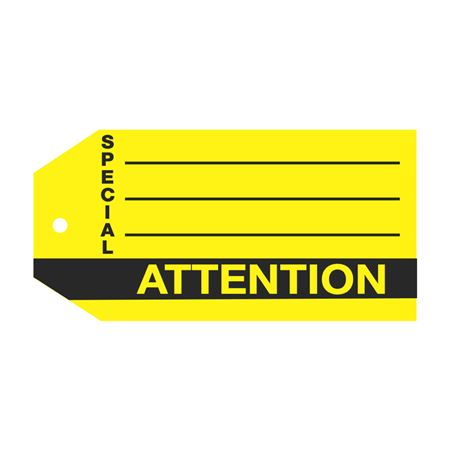 Product Status Tags - Special Attention 2.875 x 5.75