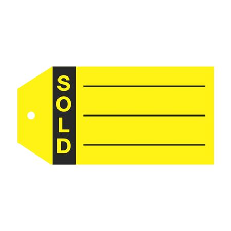 Product Status Tags - Sold 2 7/8 x 5 3/4