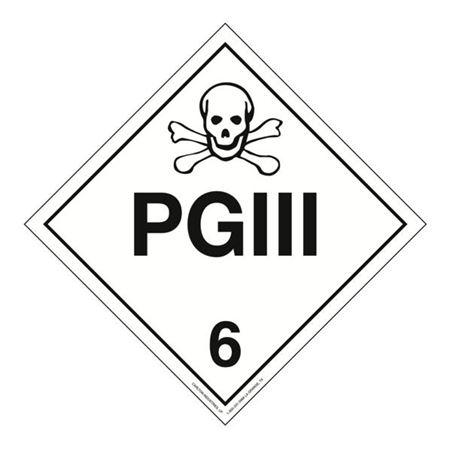 Class 6 - PG III Worded Placard
