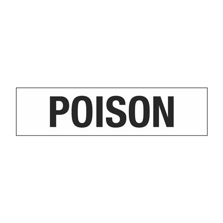 "Truck/Tank Decals - Poison - 4"" Letter 6 x 24"