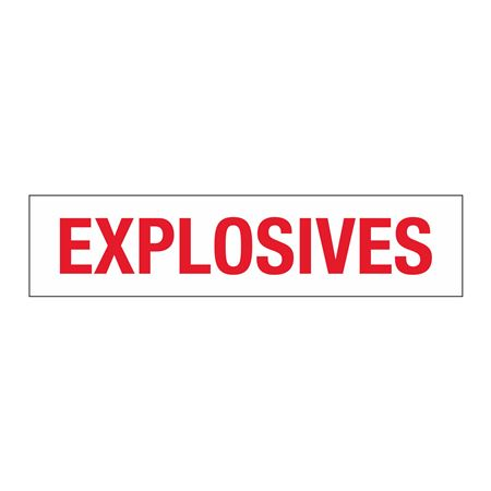 "Truck/Tank Decals - Explosives - 4"" Letter 7 x 30"