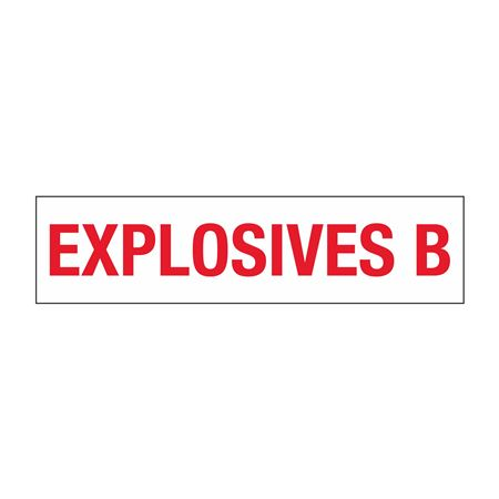 """Truck/Tank Decals - Explosives B - 3"""" Letter 6 x 24"""