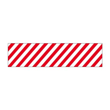 Truck/Tank Decals - Red/White Striped Reflective 6 x 24