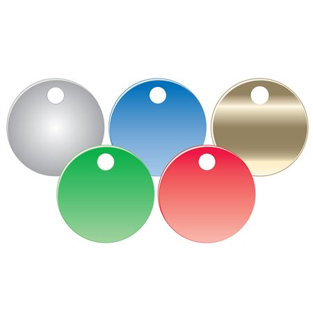 Blank Colored Anodized Aluminum Valve Tags 25PK 1.5 Inch