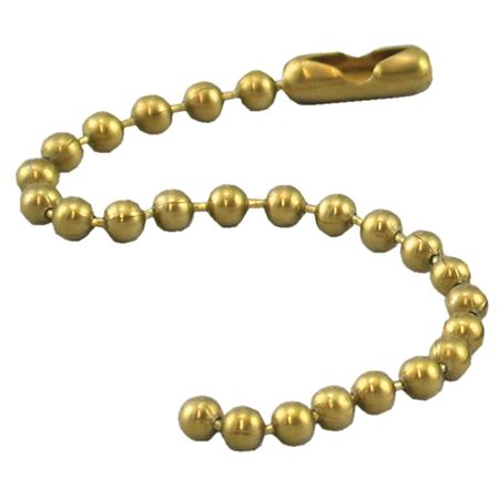 Brass Beaded Chain 4 1/2 inches