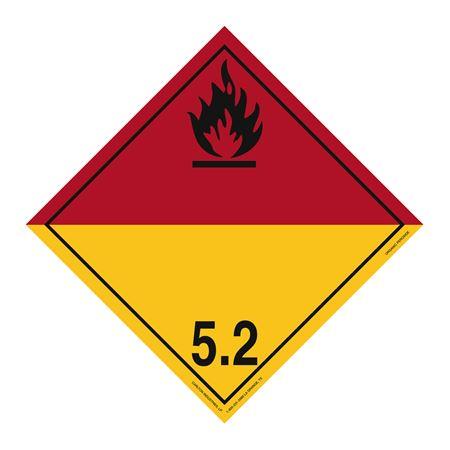 Class 5 - Organic Peroxide Int'l Wordless Placard