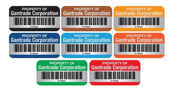 Barcode Anodized Alum Nameplates-Custom-3/4x1 1/2