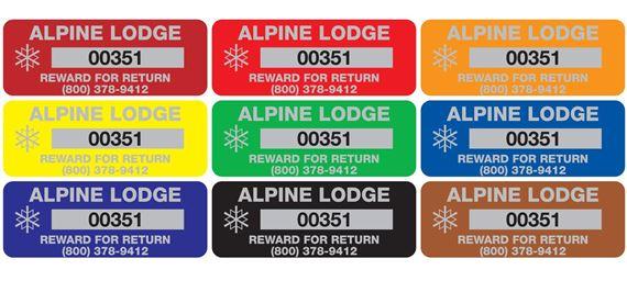 Custom Anodized Aluminum Nameplates - Barcoded - 3/4 x 2