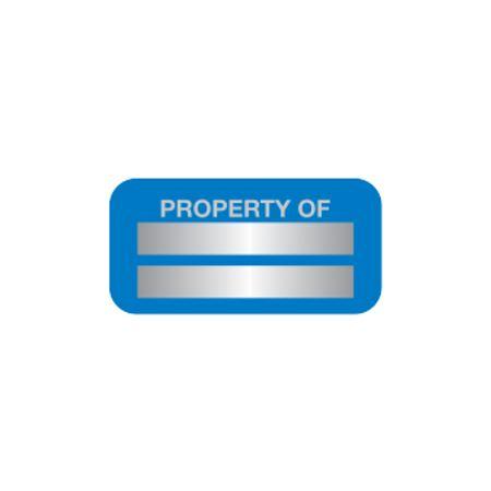 Stock Anodized Aluminum Plates - Property Of Blank .75 x 1.5