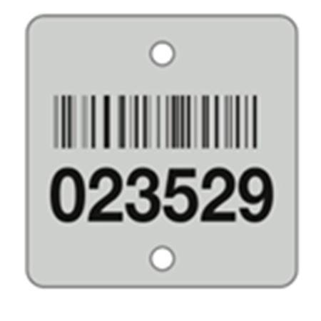 Aluminum Barcoded Plates - Custom - 1.40 x 1.40