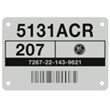 Aluminum Barcoded Plates - Custom - 2.90 x 2.00