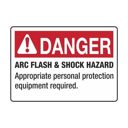 Arc Flash Decals-Danger Arc Flash&Shock Hazard-RL/100-3.5x5