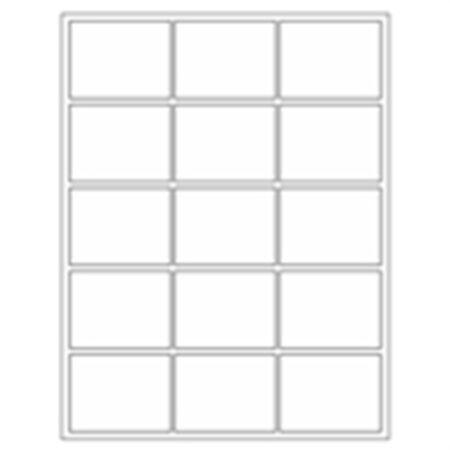 Blank All-Weather Waterproof Laser Labels - 2 x 2 5/8