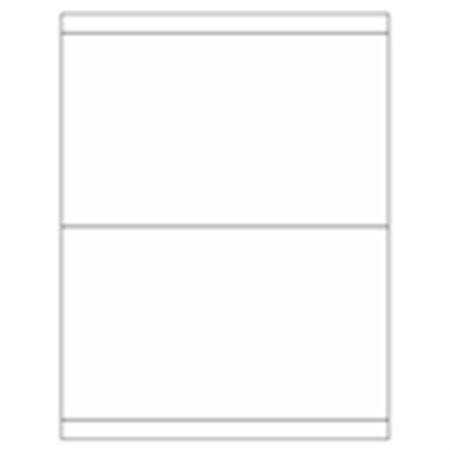 Blank All-Weather Waterproof Laser Labels - 5 x 8 1/2