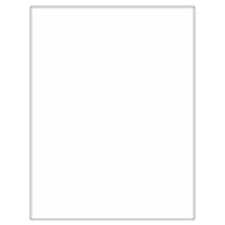 Blank All-Weather Waterproof Laser Labels - 8 1/2 x 11