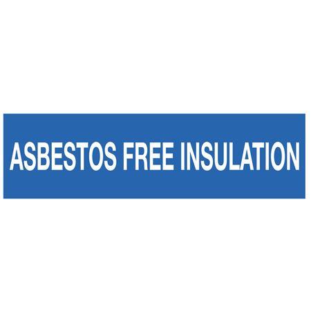 ANSI Pipe Markers Asbestos Free Insulation - Pk/10