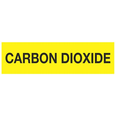 ANSI Pipe Markers Carbon Dioxide - Pk/10