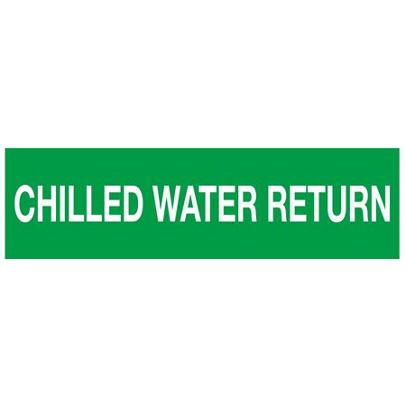ANSI Pipe Markers Chilled Water Return - Pk/10