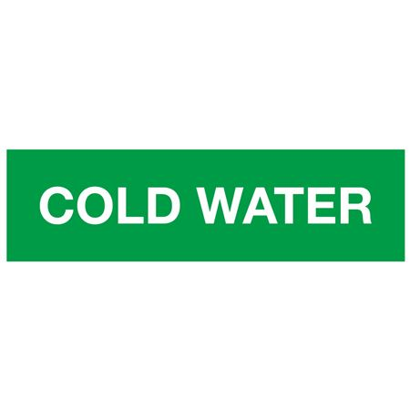 ANSI Pipe Markers Cold Water - Pk/10
