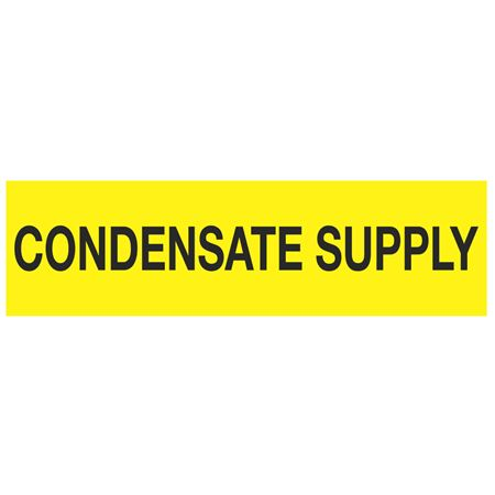 ANSI Pipe Markers Condensate Supply - Pk/10