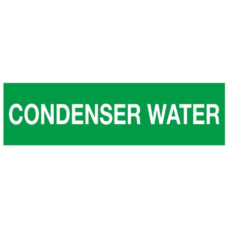 ANSI Pipe Markers Condenser Water - Pk/10