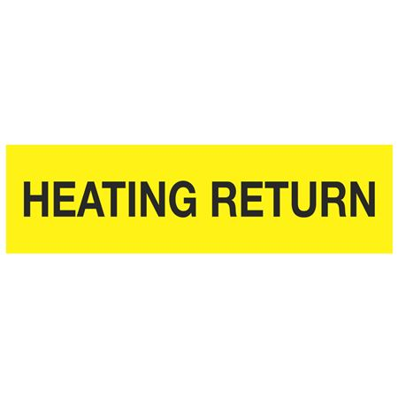 ANSI Pipe Markers Heating Return - Pk/10
