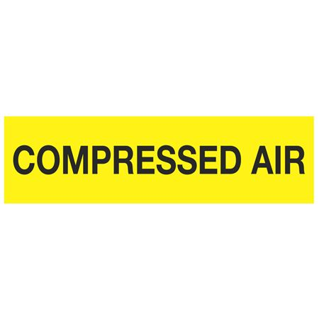 ANSI Pipe Markers Compressed Air (Yellow) - Pk/10