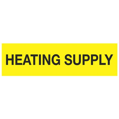 ANSI Pipe Markers Heating Supply - Pk/10