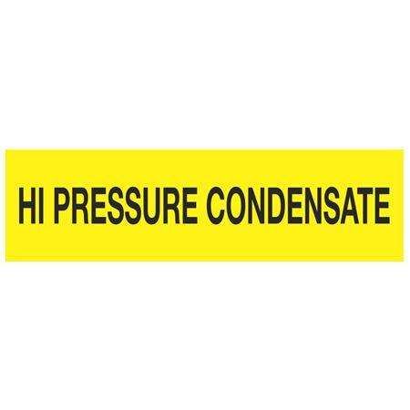 ANSI Pipe Markers High Pressure Condensate - Pk/10
