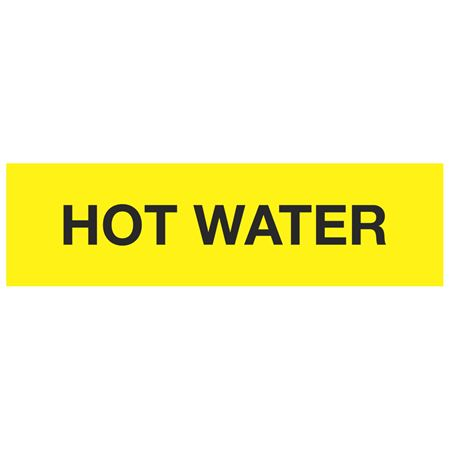 ANSI Pipe Markers Hot Water - Pk/10