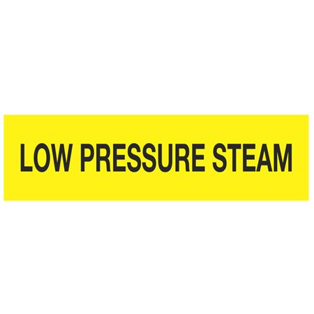 ANSI Pipe Markers Low Pressure Steam - Pk/10
