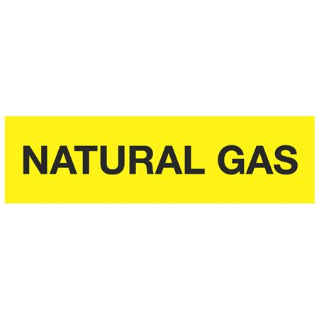 ANSI Pipe Markers Natural Gas - Pk/10