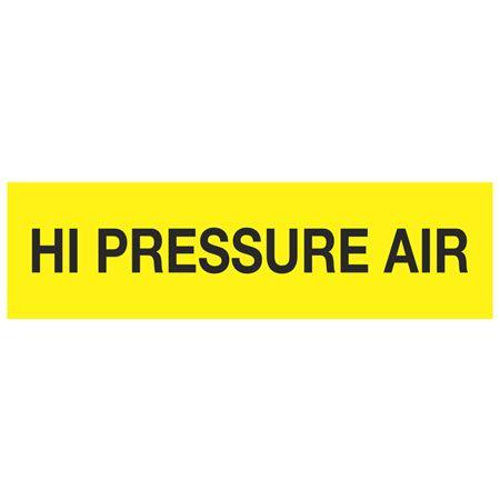 ANSI Pipe Markers High Pressure Air - Pk/10