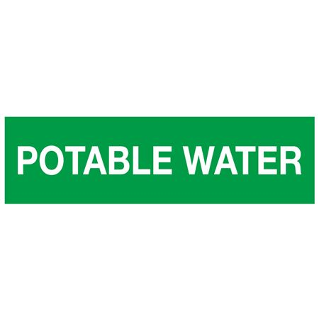 ANSI Pipe Markers Potable Water - Pk/10