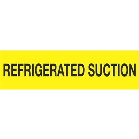 ANSI Pipe Markers Refrigerated Suction - Pk/10 LG 4-1/2 inches x 24 inches