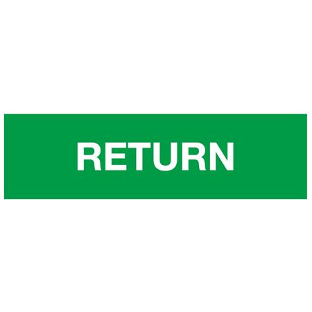 ANSI Pipe Markers Return (Green) - Pk/10