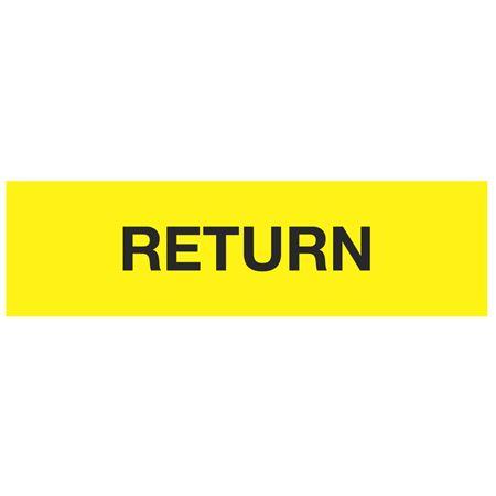 ANSI Pipe Markers Return (Yellow) - Pk/10