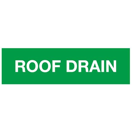 ANSI Pipe Markers Roof Drain - Pk/10