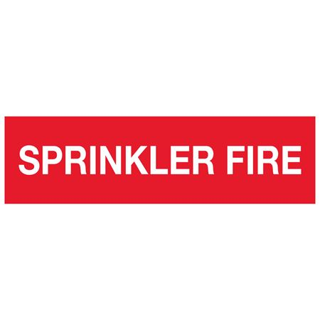 ANSI Pipe Markers Sprinkler Fire - Pk/10