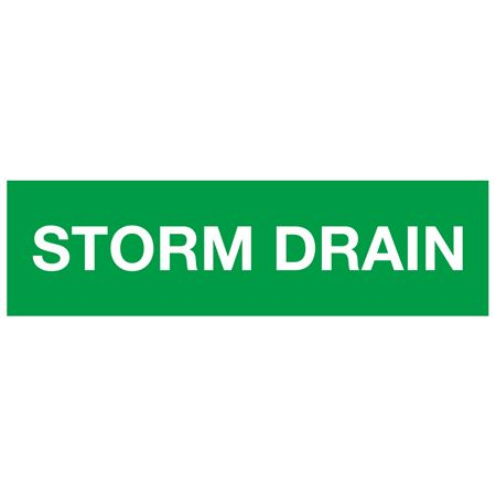 ANSI Pipe Markers Storm Drain - Pk/10