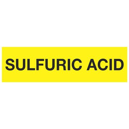 ANSI Pipe Markers Sulfuric Acid - Pk/10
