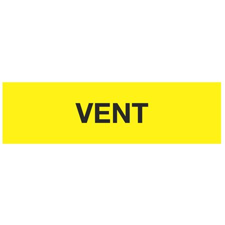 ANSI Pipe Markers Vent (Yellow) - Pk/10