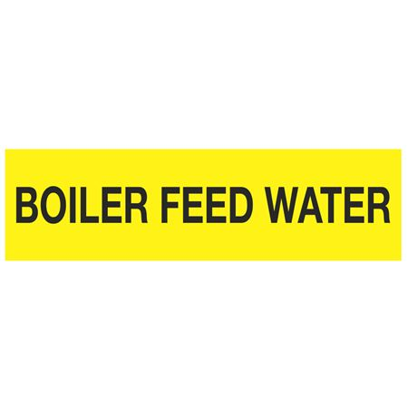 ANSI Pipe Markers Boiler Feed Water - Pk/10