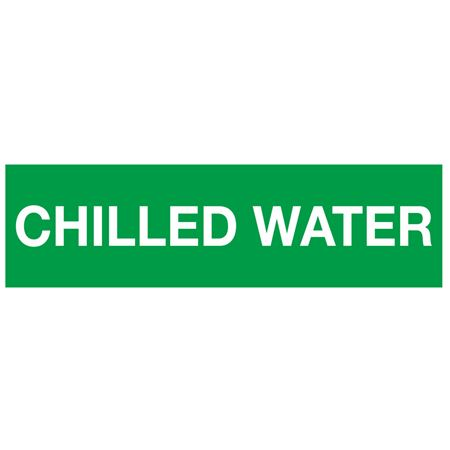 ANSI Pipe Markers Chilled Water - Pk/10