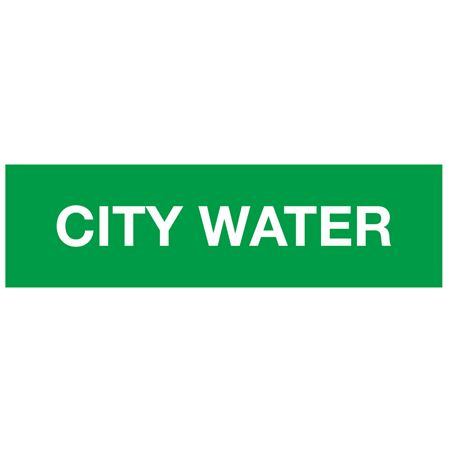 ANSI Pipe Markers City Water - Pk/10